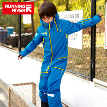 RUNNINGRIVER new single double plate windproof boys and girls childrens Siamese ski jacket w7741n