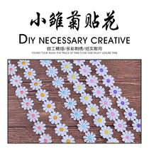 DIY six color 10 petals Daisy embroidery water soluble lace color small daisy applique childrens lace decorative accessories