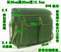Thickened green canvas metal aftermarket strong wear-resistant durable tool kit to increase maintenance electrician bag large shoulder bag