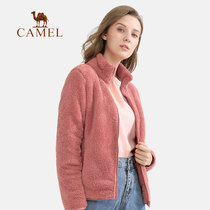 Camel womens sweater womens cardigan jacket outdoor 2020 autumn new long-sleeved warm collared coat.