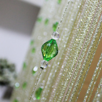 Fresh and elegant green beadimitation crystal wire curtain curtain partition secret clearance break custom encryption