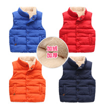Boys and velvet vest coat winter childrens clothing childrens baby child thickened cotton horse Clip 2 years old 3 tide wt-5753
