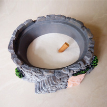 Ashtray smoke sand Sand hotel ashtray garbage can white jingsha ultra-fine ashtray special.