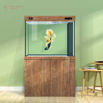 Coriade DMD wood grain small and medium-sized shoe cabinet fish tank living room home bottom filter screen partition glass aquarium