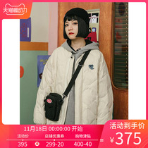 omont egg tarts home retro loose light down jacket womens short wear long-sleeved jacket Halloween winter