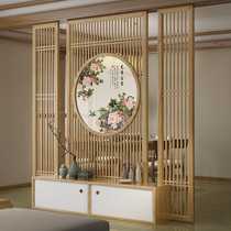 New Chinese screen partition living room simple modern entrance Cabinet home hotel hall teahouse custom block simple