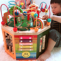 A year old and a half baby puzzle boy intelligence 0-1 years old baby toys early education enlightenment around the bead treasure chest girl