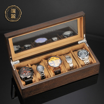 Li li watch box retro watch box storage box simple wooden home five-table portable mechanical watch box