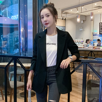 Tide brand Red small suit female 2019 autumn new long paragraph wild chic casual long-sleeved suit jacket female