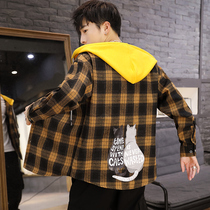2019 autumn mens new long-sleeved shirt Korean trend handsome plaid casual shirt mens coat Hong Kong style