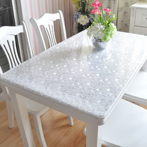 PVC waterproof anti-hot tablecloth soft plastic glass transparent table cloth tablecloth disposable coffee table pad tablecloth
