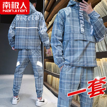 Antarctic mens suit spring and autumn 2020 new Korean version trend ins handsome casual sports clothes.