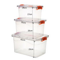 Plastic storage box small transparent finishing box home covered clothes toy storage box storage box extra large
