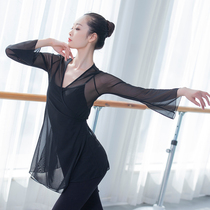 Dance clothes adult female classical dance yarn clothing national practice professional top body rhyme body mesh dance practice clothes