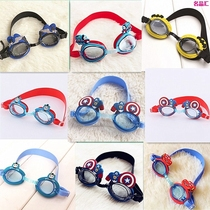 Super variety of 2017 Childrens swimming goggles cartoon car styling goggles McQueen car Spider Man Captain America Princess