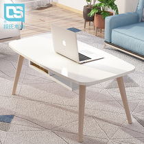 ins wind wood simple Nordic coffee table small apartment low table creative coffee table easy to install living room modern side of a few