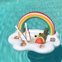 Arc-en-ciel gonflable nuages eau bar coupe Rainbow Arch bar à salade Ice Bar Rainbow Cup siège ligne flottante Rainbow Island