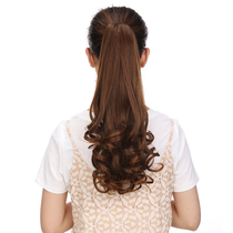 Ponytail wig female long curly hair big wave clip clip pear short paragraph in the long ponytail invisible natural