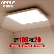 Op integrated ceiling led light flat light embedded kitchen light bathroom gusset light 300 600