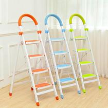 Indoor ladder home folding ladder two three four five six-step ladder thickened steel pipe telescopic stairs