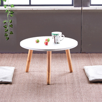 Small round table low-footed Japanese-style low round table sitting table floating window balcony small family coffee table modern practical mini.