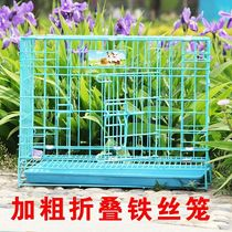 Chicken house chicken cage rabbit cage wire cage chicken cage large breeding household large folding rabbit cat cage