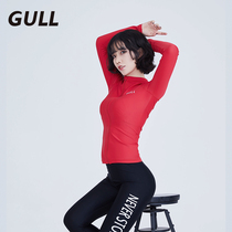 GULL diving suit female split sunscreen long-sleeved swimsuit quick-drying jellyfish clothing was thin surfing snorkeling clothing tight suit