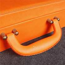 Key gift box orange leather delivery box real estate delivery box universal delivery tool box custom.
