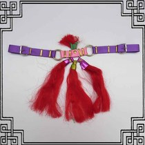 Red tassels decorative pendant cultural goods festive horse accessories wedding short bridle saddle equestrian size