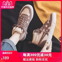 Korea 2019 new canvas shoes womens shoes autumn and winter wild student sports velvet high shoes winter two cotton shoes