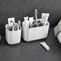 Toothbrush shelf desktop desktop bathroom simple dental shelf multi-functional creative toothbrush put toothpaste tube