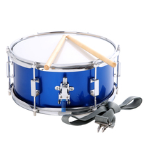 Small snare drum 13 14 inch snare drum musical instrument back frame squad drum stainless steel cavity musical instrument drum playing type