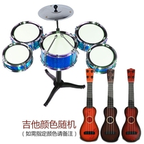 Drums beginners simulation mini model ornaments baby children playing hand-rolled electronic drum childrens toys