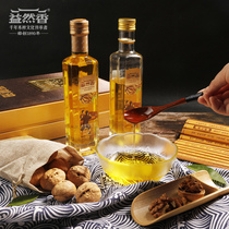 Yiran Xiang wood-pressed walnut oil high-end cooking oil maintenance oil without adding cold virgin 500ml x 2 gift box.