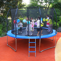 Tianxin commercial trampoline children large trampoline with protective net adult outdoor square kindergarten jump bed.