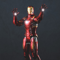 Play Joy Project Big Iron Man Glowing Joints Can Move Even Hand-Made Model Color Box Gift 36cm
