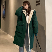 Anti-season ins down cotton padded womens autumn and winter jacket 2019 new tide cotton coat Korean loose coat in the long section