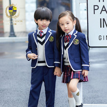 Kindergarten spring and autumn clothing men and women childrens clothing British wind school uniforms childrens Suit Suit pupils spring class clothes