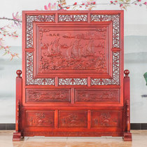 Dongyang wood carving solid wood engraving floor screen living room hotel bedroom office partition Guan Jie smooth sailing