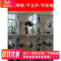 Transparent acrylic mobile phone storage cabinet storage box storage box with lock force school staff factory Tinder cabinet custom