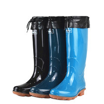 Pull back new rain shoes women high barrel non-slip rain boots waterproof beef tendon bottom tube water shoes plus cotton warm plus cashmere rubber boots