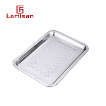 Lartisan Barbecue tools Food plate barbecue food plate stainless steel food display plate barbecue accessories