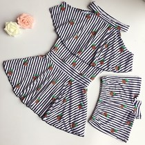 Two sets of childrens swimwear girls flat angle girls girls in primary school children skirt split cute swimsuit