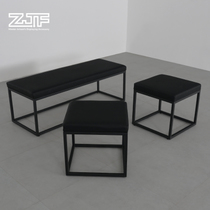 All Carpenter square ZJF clothing store test shoe stool rectangular change shoe stool dressing room Test room rest stool new D3