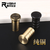 Ryan copper thickened dust collector dark Bolt green bronze dust tube sand flat hole dust cover sand cover tube