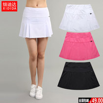 New Sports pants skirt womens fast dry badminton golf Tennis breathable anti-fold pleated running half skirt