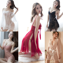 Fei mu sexy lingerie small breast pajamas uniform temptation Three point type supplies perspective dress passion Suit Woman