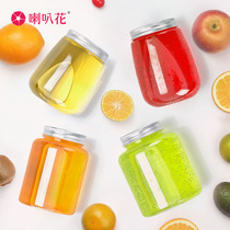 Trumpet flower hot drink Prime Thai tea fat drink bottle juice disposable plastic cup dirty tea bottle 100