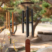 Creative metal tube meditation music wind chimes ornaments outdoor wrought iron garden high-grade Japanese wind chimes home accessories