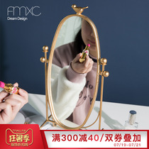 Nordic Modern Net red dressing mirror home simple desktop dressing student bedroom desktop single dresser mirror